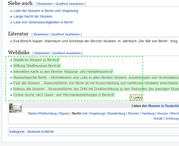 Wikipedia Broken Link Check