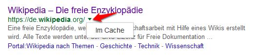 google-im-cache-suchergebnis-aufruf