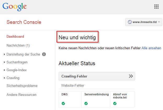 google-search-console-dashboard