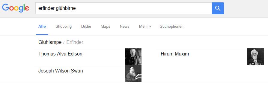 Google Suche Erfinder