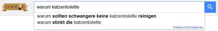 Google Suche Keyword Fragewort warum