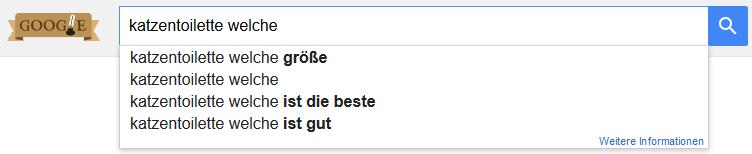Google Suche Keyword Fragewort welche