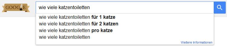 Google Suche Keyword Fragewort wie viele