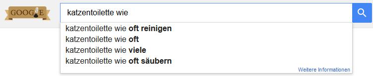 Google Suche Keyword Fragewort wie