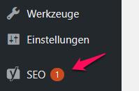 WordPress Yoast Menü SEO