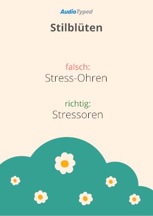 Transkription Stilblüte Stressoren